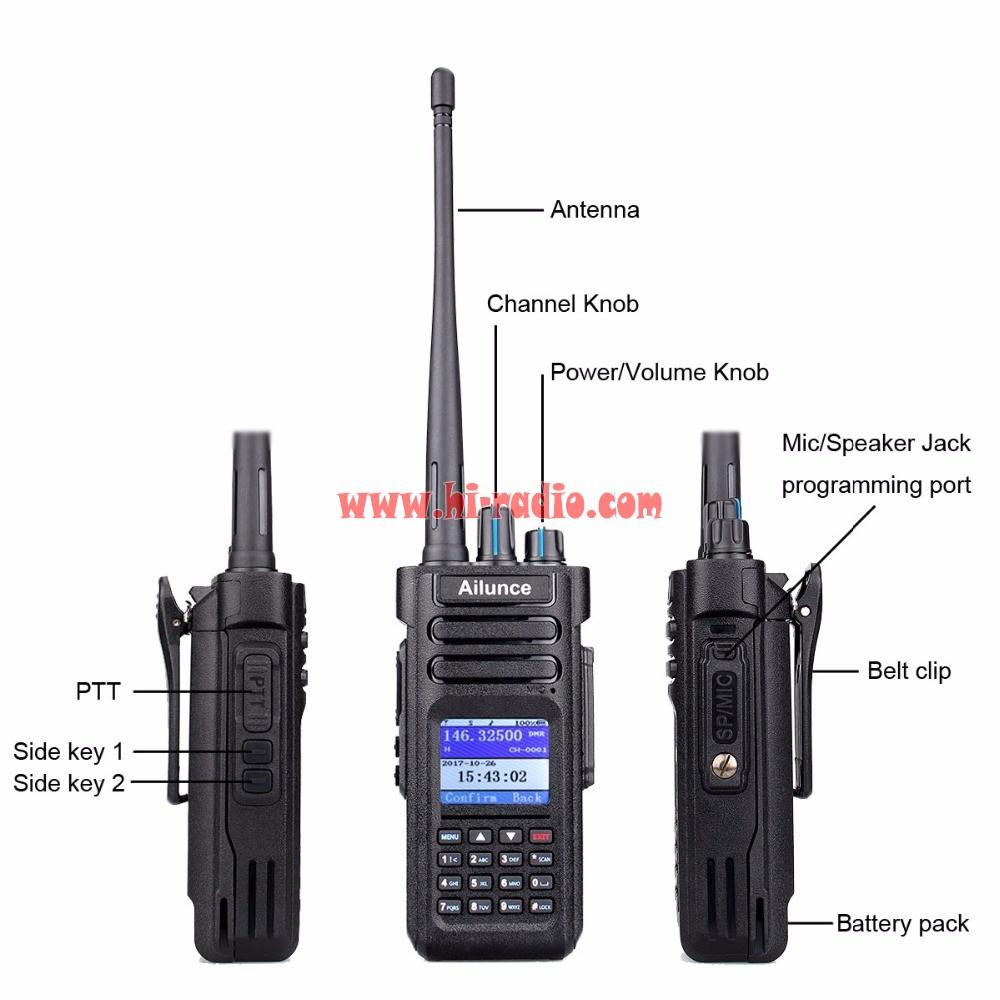 Retevis Ailunce HD1 Digital DMR Radio GPS 10W VHF UHF Dual Band Compatible  with Motorola Tier Ⅰ&Ⅱ