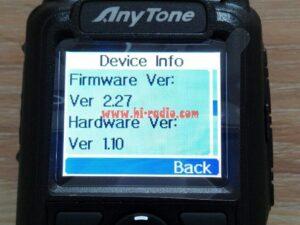 Anytone AT-D868UV Firmware 2.27 GPS DMR Dual-band Two Way Radio