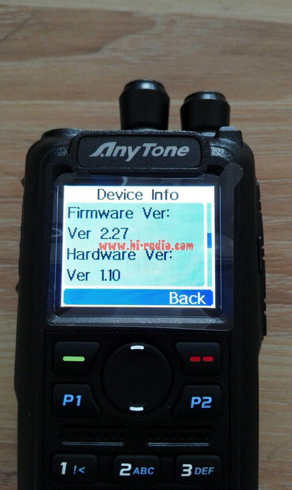 Anytone At D868uv Firmware 2 27 Gps Dmr Dual Band Two Way