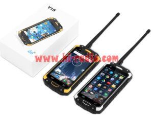 New 4G LTE PTT Two way Radio Rugged Android Smartphone IP68 Waterproof LEMHOOV V18