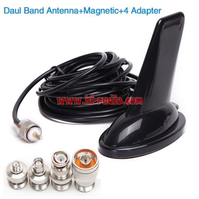 Shark Fin Antenna Dual Band Coaxial Cable Magnetic Mount Base
