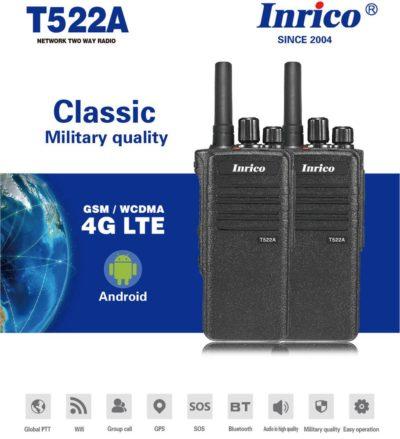 Inrico T522A 4G LTE Wifi Zello PTT Radio Phone