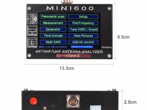 HF/VHF/UHF Antenna Tester MINI 600 with 4.3′ TFT LCD Touch Screen Antenna Analyzer