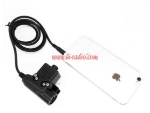 Samsung Huawei Xiaomi U94 PTT Mic Earphone Covert Acoustic Tube NATO Plug
