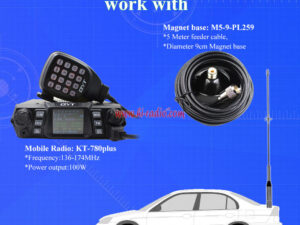 Nagoya NL-770R 200W DUAL BAND 144/430Mhz Antenna Mobile Car Transceiver