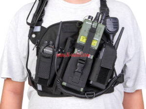 Outdoor Rescue Radio Tactical Harness Chest Front Pack Pouch Holster Vest bag