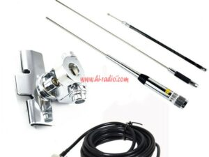 TYT TH-9800 QYT KT7900D KT8900 Mobile Radio Antenna Quad Band Bracket Feeder Cable Kit